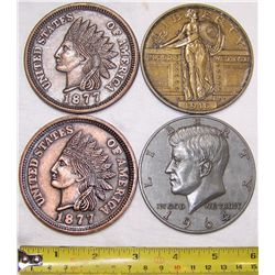 (4X The Bid) U.S. Coin Tribute Commemoratives.