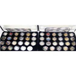 (2X The Bid) 2004-2005 Gold-Platinum Enhanced U.S. Nickel Sets.