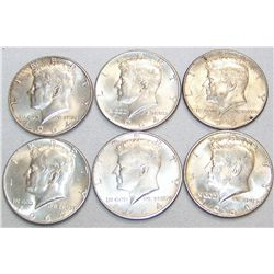 (6X The Bid)  1964 Kennedy Half Dollars.