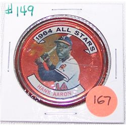 Rare Hank Aaron All Stars 1964 Token.