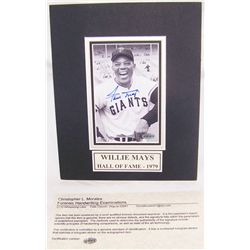 Willie Mays Signed Picture. Hall of Fame-1979..