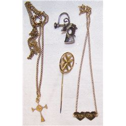 Five Pcs. Jewelry from Personal Collection of Bing Crosby.