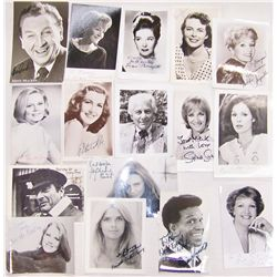 Sixteen Celebrity Signed Black and White Photographs.