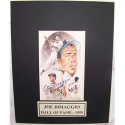 Joe DiMaggio Signed Picture.