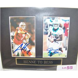 Henne to Bess Signed Picture.