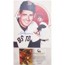 Ted Williams Signed Picture.