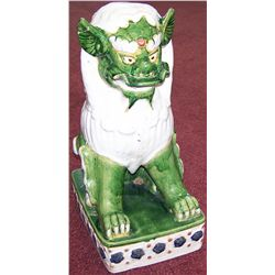 Antique Chinese Temple Lion Possibly Tang Dynasty, Verte Rose.
