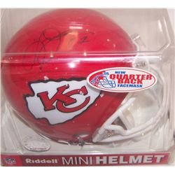 KANSAS CITY CHIEFS #27 LARRY JOHNSON SIGNED MINI HELMET.
