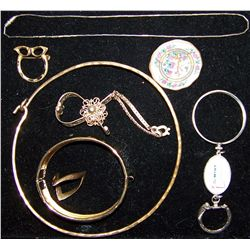 Eight Pcs. of Jewelry from the Louis Armstrong Estate.