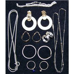 (9) Piece Assorted Jewelry Lot from the Louis Armstrong Estate Jewelry Collection.
