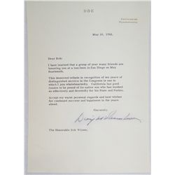 Dwight D. Eisenhower(1890-1969) 34th U.S President Signed and Dated Letter May 10,1962.