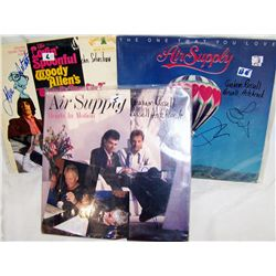 Three Signed Albums. (2) Air Supply (1) Lovin Spoonful.