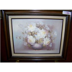 Irene Cox Oil on canvas painting framed 21.5 X 22 Image 12T x 16W