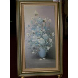 Oil on canvas Painting signed Rossy Framed 17.5 X 29.5