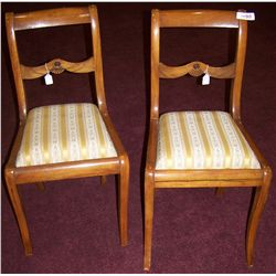 Pair of Antique English Maple Chairs