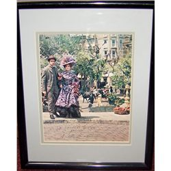 """HELLO DOLLY"" Signed Picture with Barbara Streisand & Walter Matthau."