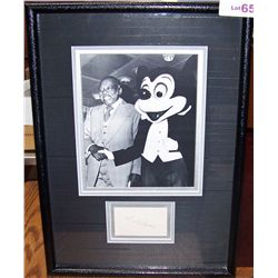 COUNT BASIE SIGNED Cut out w/ Rare picture with MICKIE MOUSE