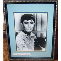 GEORGE TAKAI Signed Picture.