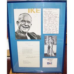 President Dwight D. Eisenhower Memorabilia Display.