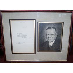 HERBERT HOOVER SIGNED LETTER DATED AUGUST 22,1934
