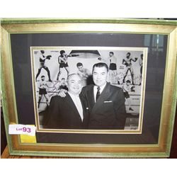 "JACK DEMPSEY & BARNEY ROSS SIGNED AND DEDICATED VINTAGE PICTURE DEDICATED ""TO SID"""