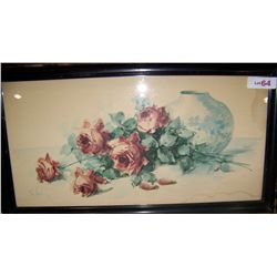 Vintage Water Color by Van Ness.