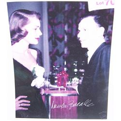 Lauren Bacall Signed Picture w/ Frank Sinatra.