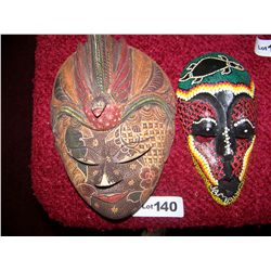 Pair of Hand Painted Masks.