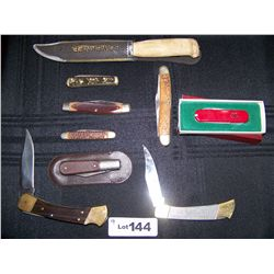 Lot of (9) Assorted Pocket  Knives  As Shown