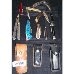 Lot of (10) Assorted Pocket Knives As Shown