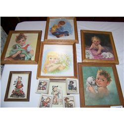 11 Piece framed Picture Lot as Shown