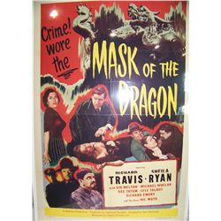MASK OF THE DRAGON  Vintage Lithographic Movie Poster.