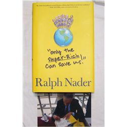 Ralph Nader Signed Book.