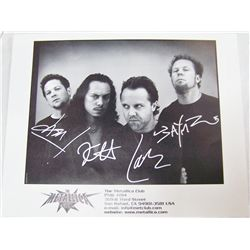 Metallica Signed Photograph.