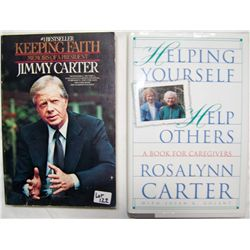 Jimmy and Rosalynn Carter Signed Books.