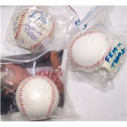Three Signed Baseballs.