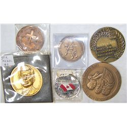 (6x$) BRONZE & BRASS COMMEMORATIVE MEDALLIONS