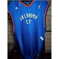 KEVIN DURANT SIGNED OKLAHOMA CITY BASKETBALL JERSEY