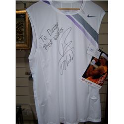 "RAFAEL NADAL SIGNED TENNIS SHIRT DEDICATED ""TO DANNY"""