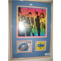 Framed B-52's Memorabilia Display