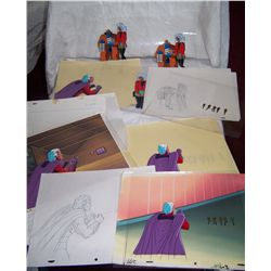 (19 Piece) X-MEN 1980's Original Hand Drawn Cels...