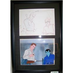 THE GREEN LANTERN Original 1980's Hand-Painted Cartoon Cel.