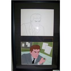 """GREEN LANTERN"" Original 1980's Cartoon Cel."