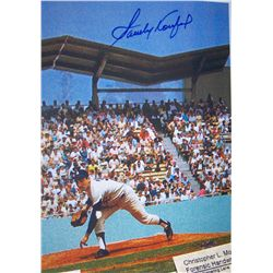 SANDY KOUFAX Autographed Sleeve With COA FROM  CSC COLLECTIBLES