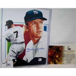 MICKEY MANTLE AUTOGRAPHED sleeve W/ C.O.A from GLOBAL SPORTS