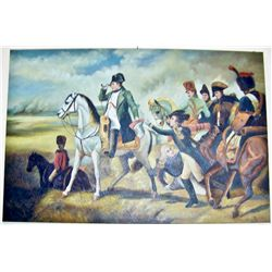 Napolean Battle Oil Painting on Canvas.