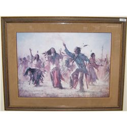 "HOWARD TERPNING ""HOPE SPRINGS ETERNAL-GHOST DANCE"" C. 1987 SIGNED #1896/2250 CUSTOM FRAMED"