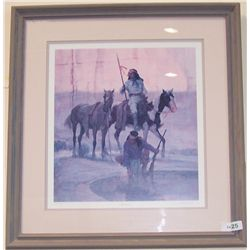 "KEN RILEY ""THE SOURCE"" LIMITED EDITION, CUSTOM FRAMED LITHOGRAPH 397/999"