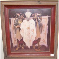 "KENNETH RILEY ""CEREMONIAL REGALIA"" CUSTOM FRAMED"