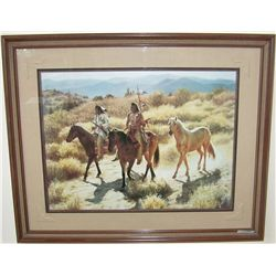 """Captured Pony"" by Susan TERPNING c.1994 CUSTOM FRAMED FINE ART PRINT."